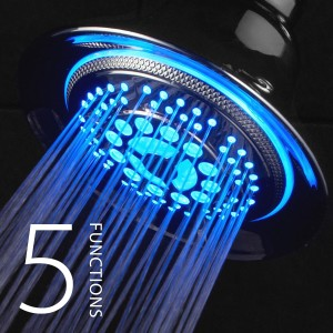 dreamspa color changing light up shower head