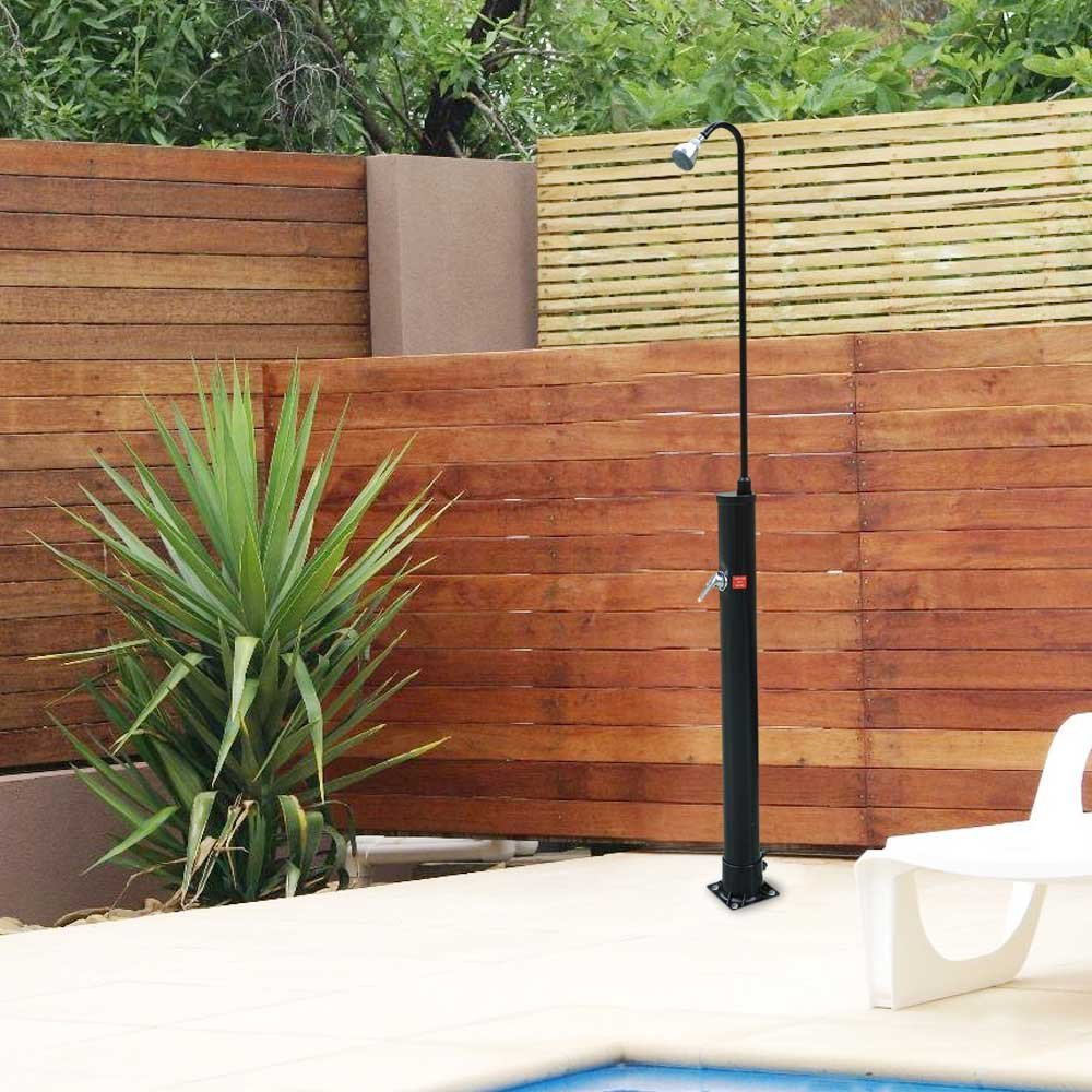 pool spa solar base outdoor backyard shower